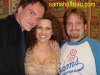 Film director Quentin Tarantino (L) Sam's GM Danni (center) and Quentin's 1st AD Bill Clark (R)